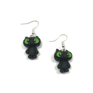 Other - Toothless Polymer Clay Earrings